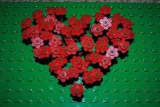 Lego heart flowers